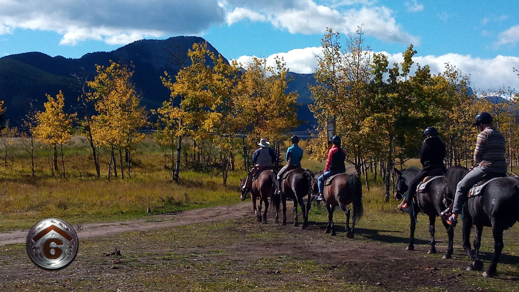 Another Spectacular Autumn Horseback Ride At Cowley's Rafter Six Ranch!
