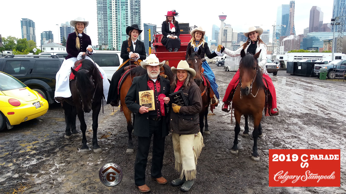 Cowley's Rafter Six Ranch in the 2019 Calgary Stampede Parade!
