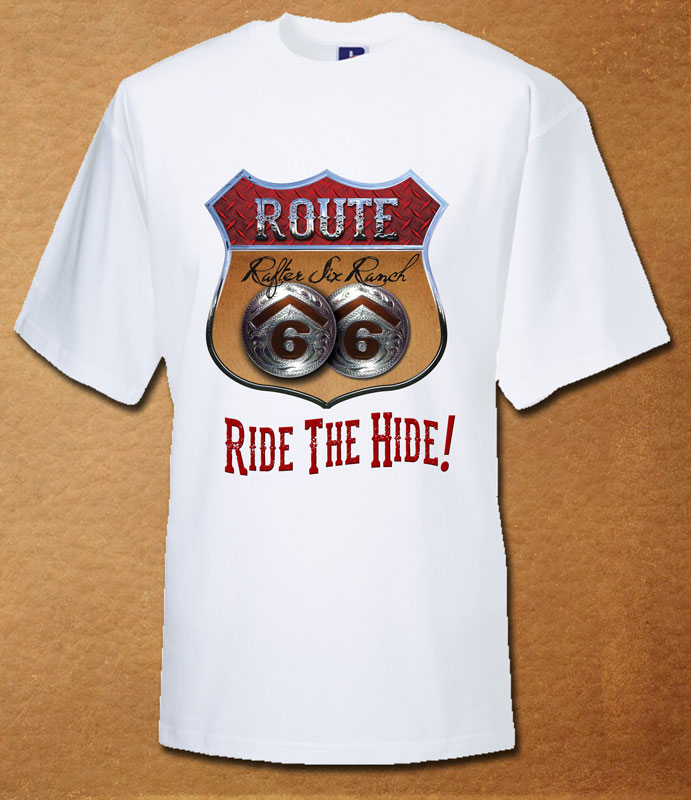 Rafter Six® Route 66 Ride The Hide T-Shirt White